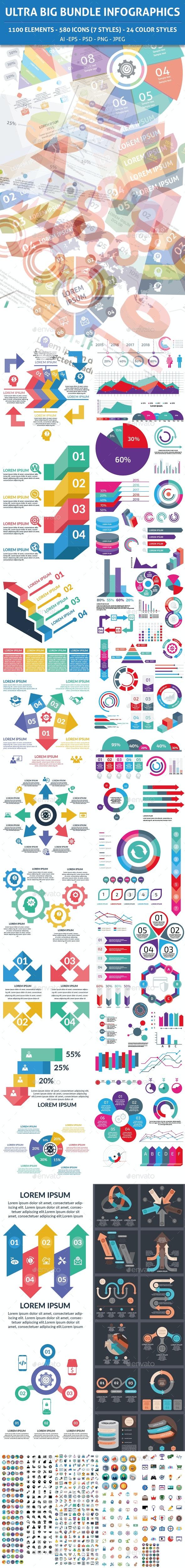 Ultra Big Bundle Infographics Elements - Infographics