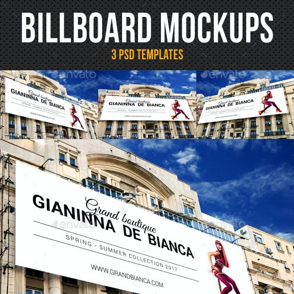 3 Billboard Mockups