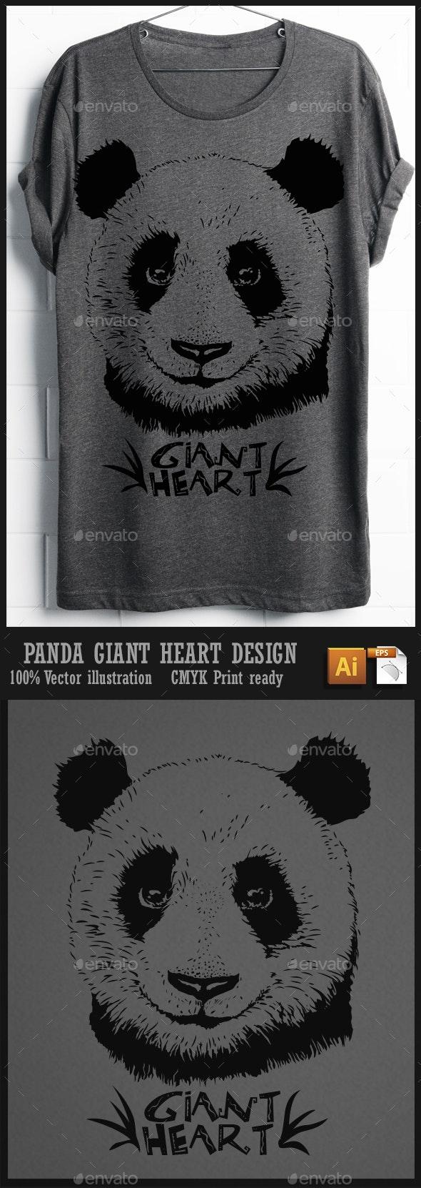 Panda T-shirt design - T-Shirts