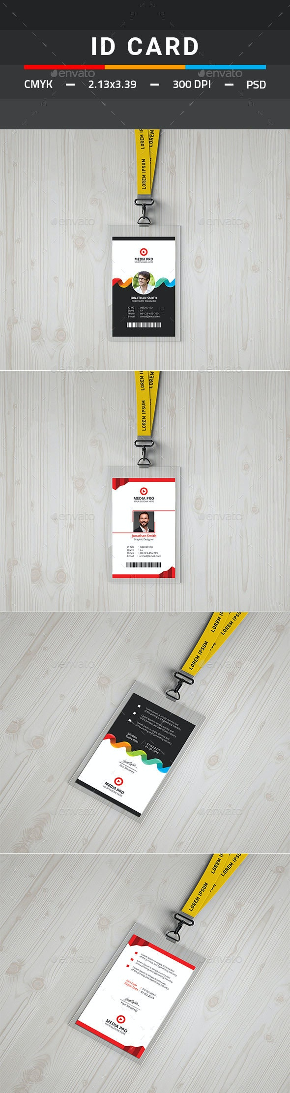 ID Card Bundle - Miscellaneous Print Templates