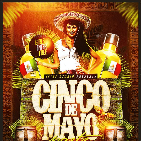 Cinco de Mayo Party v2 Flyer Template