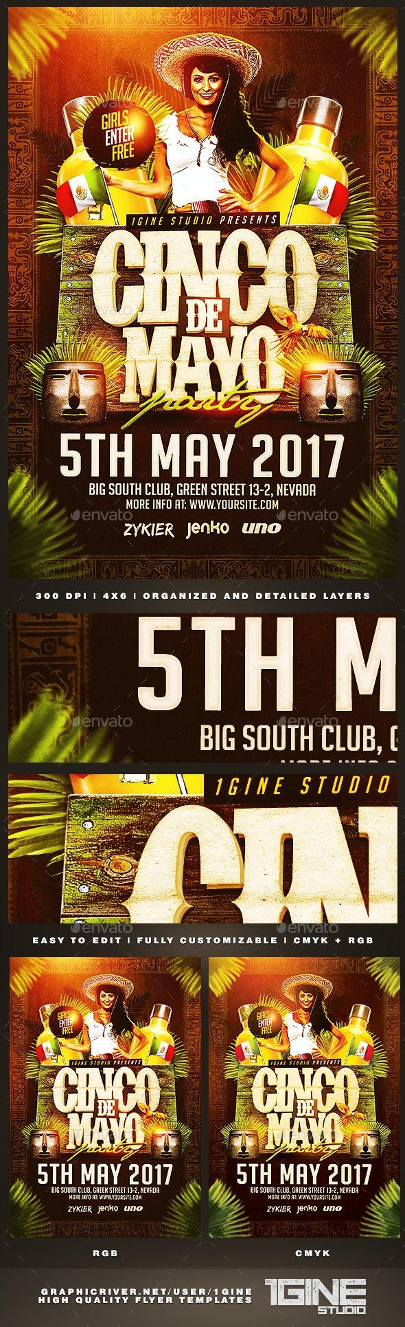 Cinco de Mayo Party v2 Flyer Template - Holidays Events