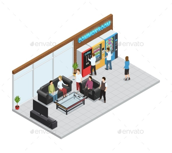 Vending  Machines Composition - Retail Commercial / Shopping