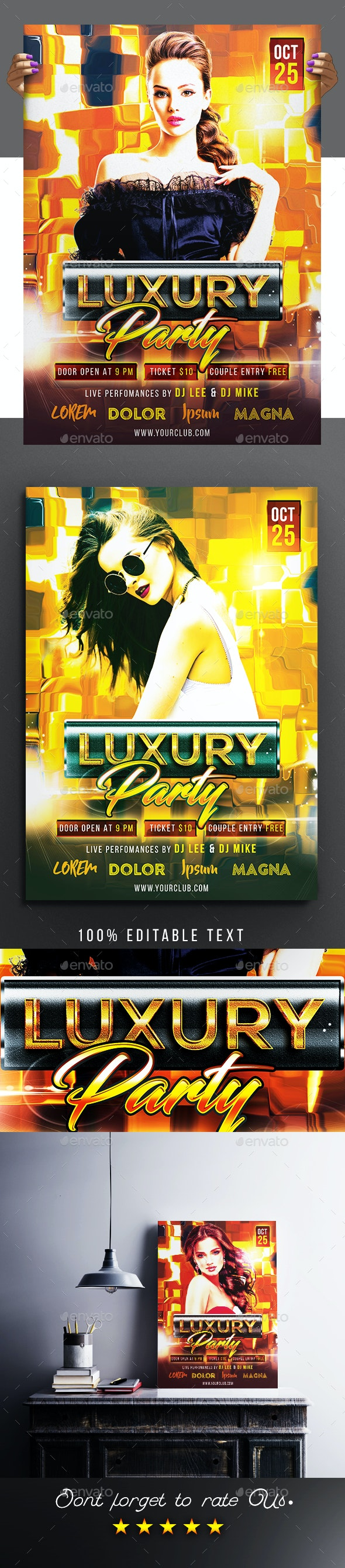 Luxury Party Flyer / Poster - Clubs & Parties Events
