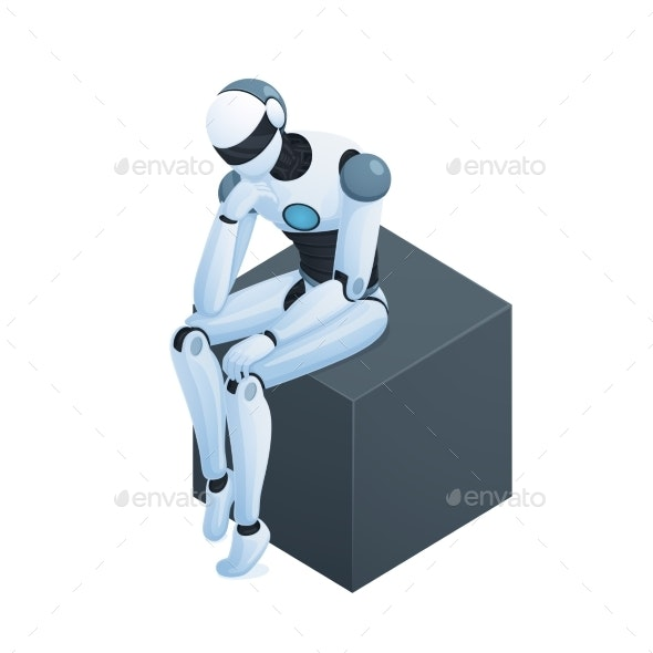 Robot Thinking on Cube Isometric Composition - Computers Technology