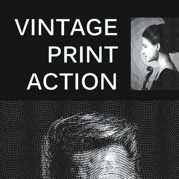 Vintage Print Action