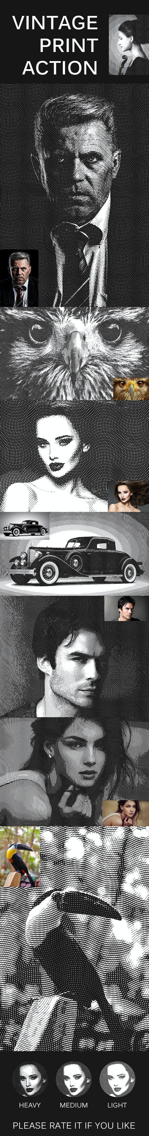 Vintage Print Action - Photo Effects Actions