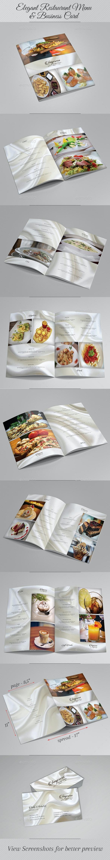 Elegant Restaurant Menu & Business Card - Food Menus Print Templates