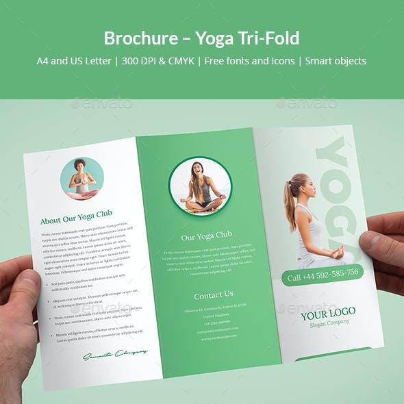 Brochure – Yoga Tri-Fold