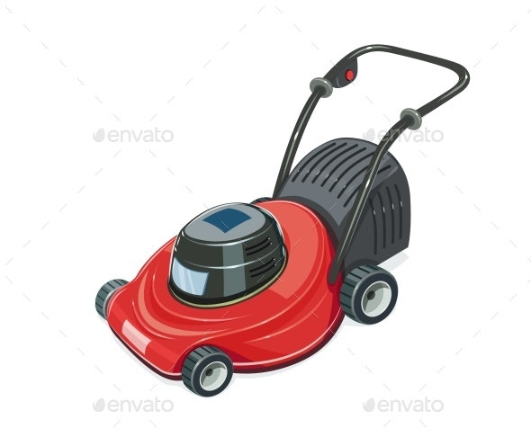 Lawn Mower - Man-made Objects Objects