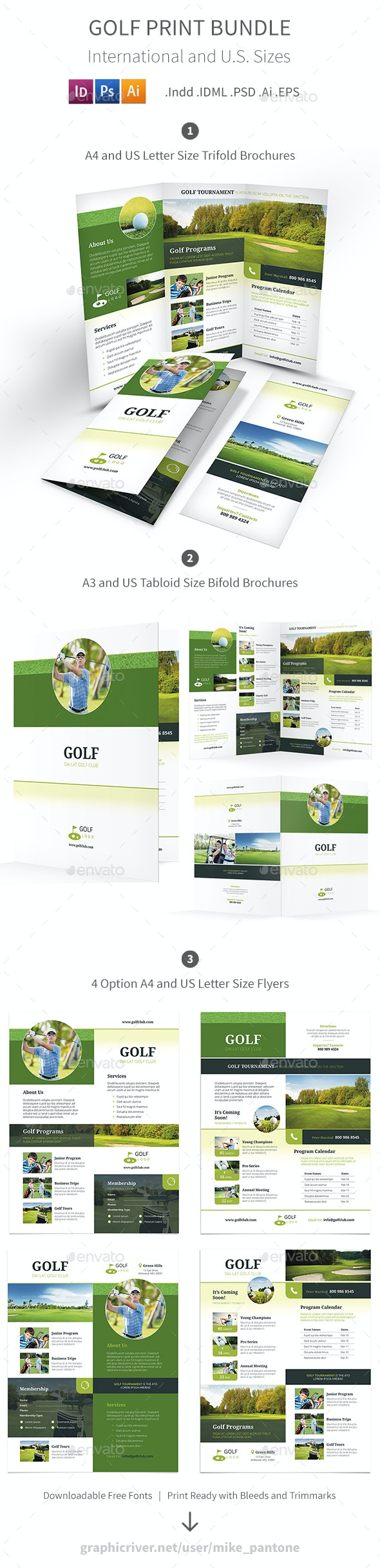 Golf Print Bundle 5 - Informational Brochures