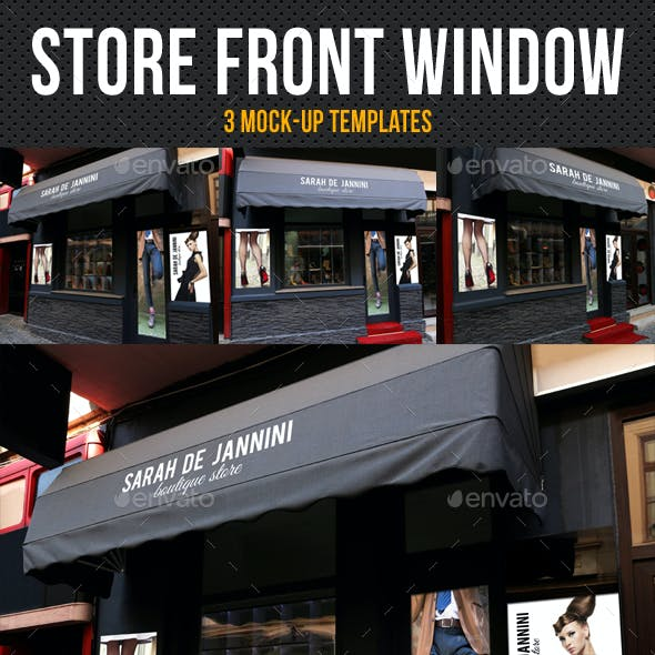 Store Front Window Mock-Up Pack 04