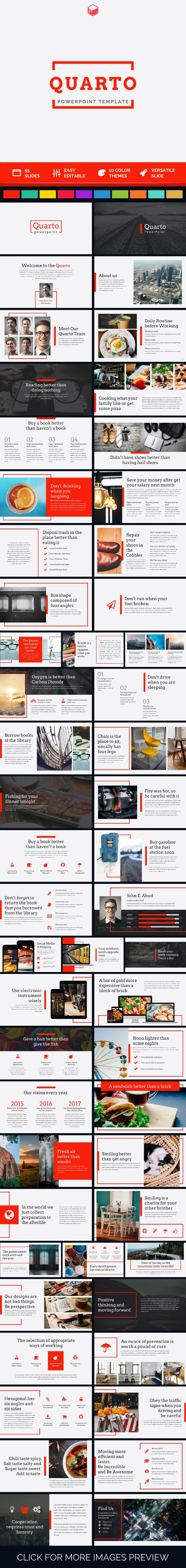 Quarto - PowerPoint Template - PowerPoint Templates Presentation Templates