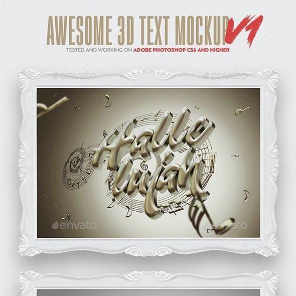 3D Text & Logo Mockup V1