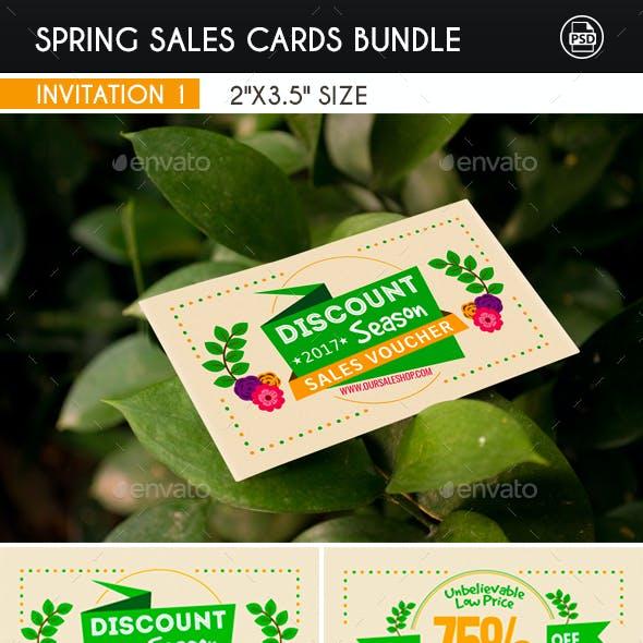 Spring Sales Cards Bundle