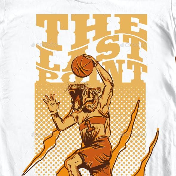 BasketBall Illustration for T-Shirt
