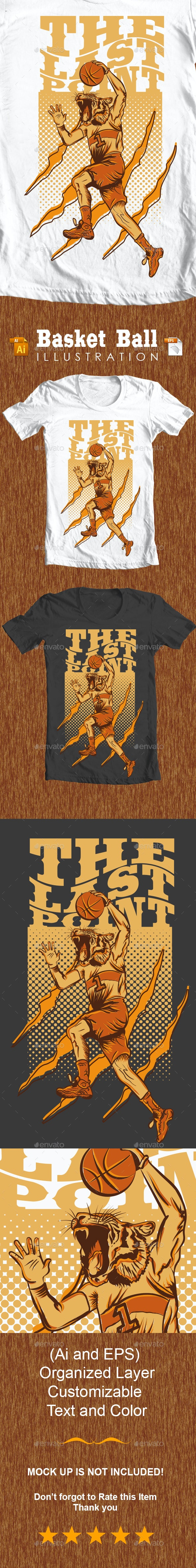 BasketBall Illustration for T-Shirt - Sports & Teams T-Shirts