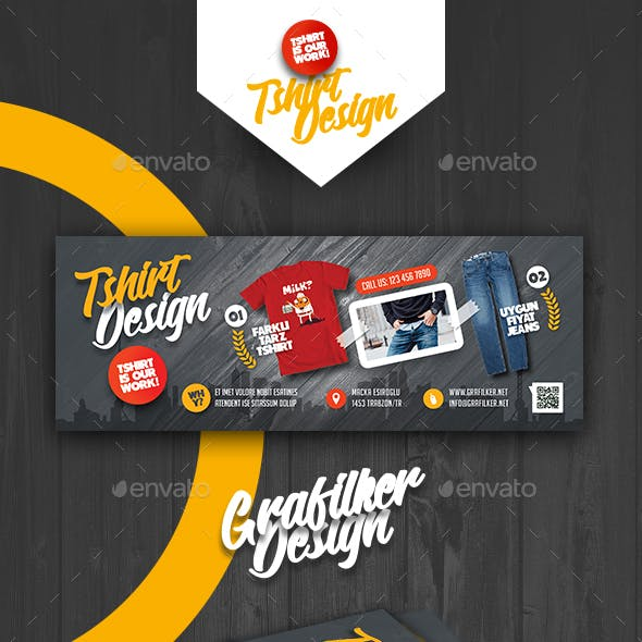 T-Shirt Shop Cover Templates