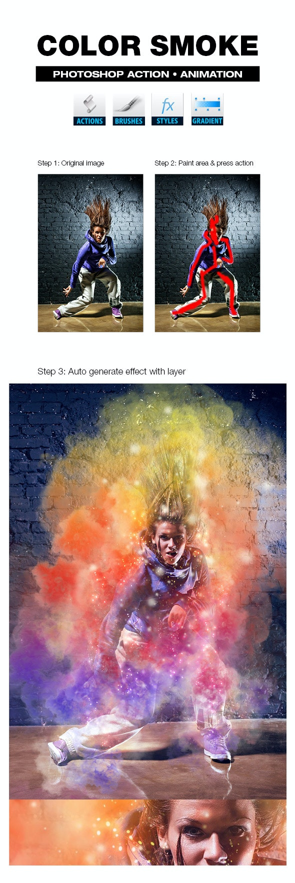 Color Smoke - Actions Photoshop