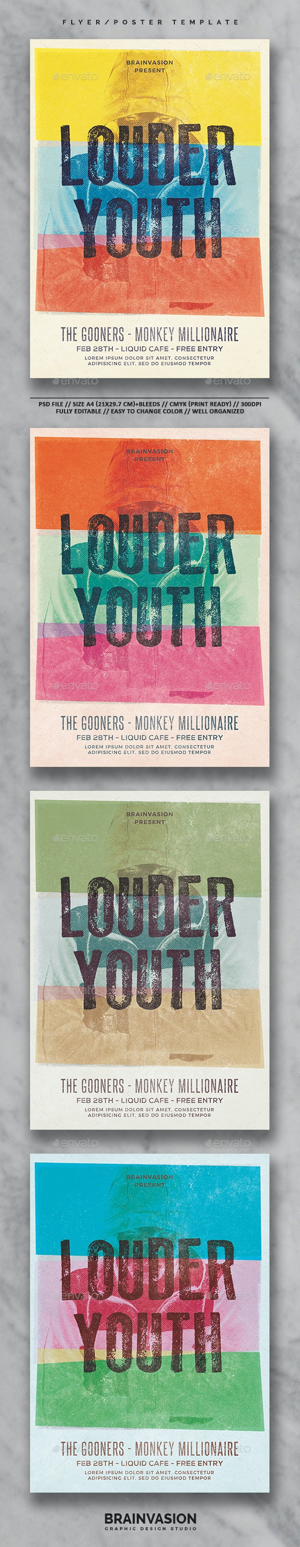 Indie Flyer/Poster Template Vol.24 - Concerts Events