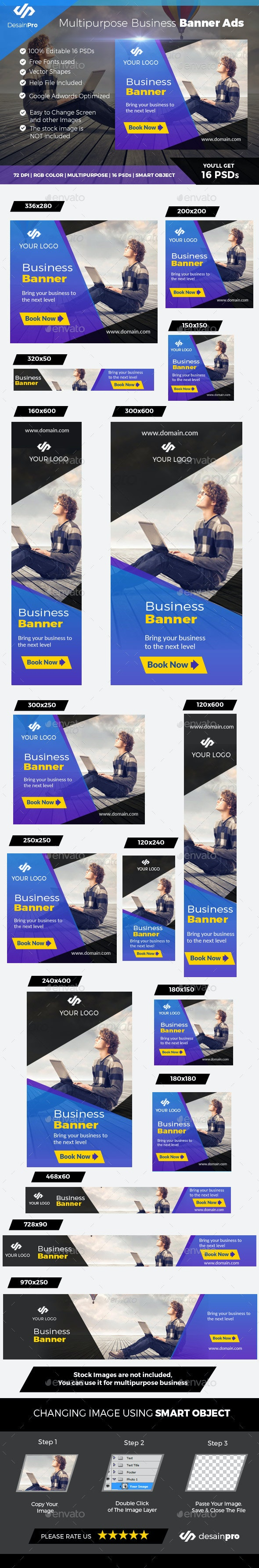 Business Banner Template - Banners & Ads Web Elements