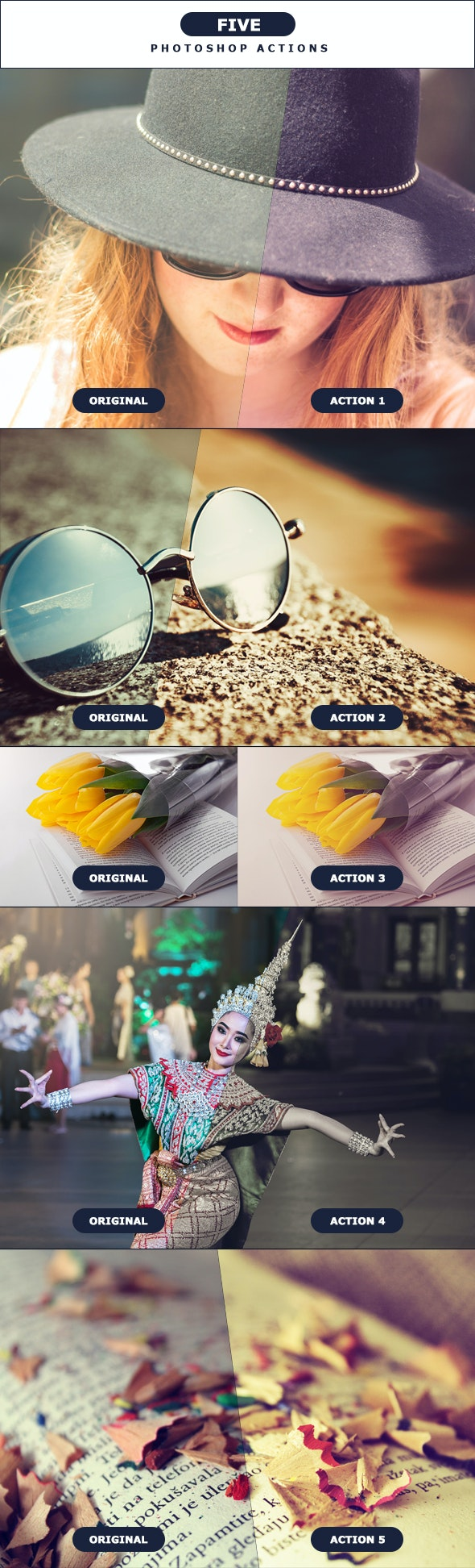 FIVE - Photoshop Actions 3 - Photo Effects Actions