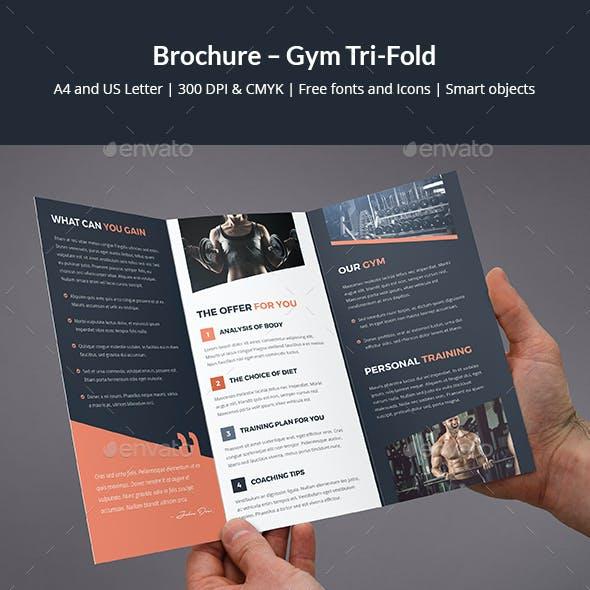 Brochure – Gym Tri-Fold