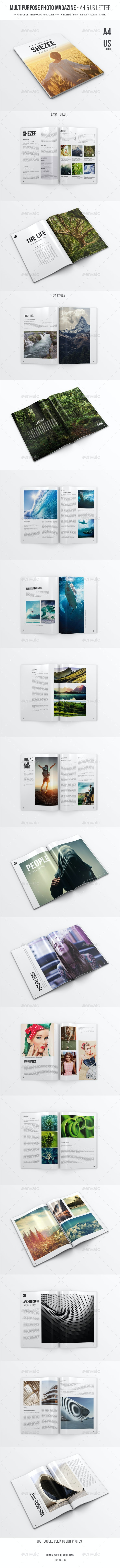 Multipurpose Photo Magazine - A4 & US Letter - Magazines Print Templates