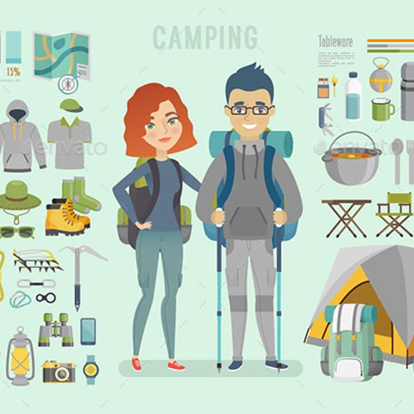 Camping Infographic.
