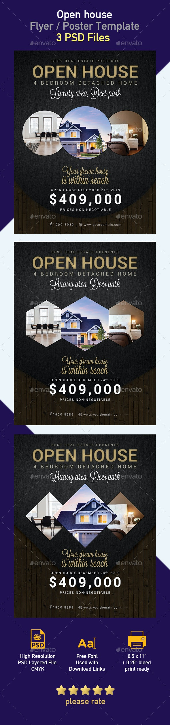 Real Estate Open House Flyer - Flyers Print Templates
