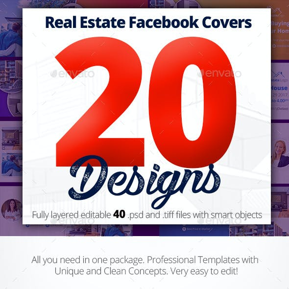 Real Estate Facebook Covers 20 Designs