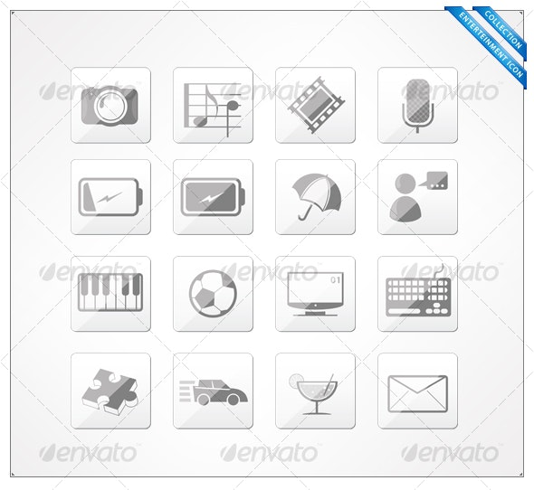Entertainment icons - Decorative Symbols Decorative