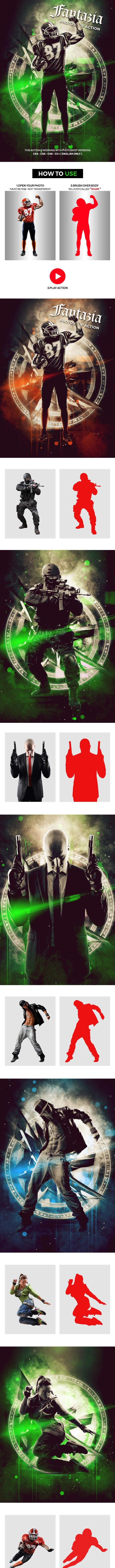 Fantazia Photoshop Action - Photo Effects Actions