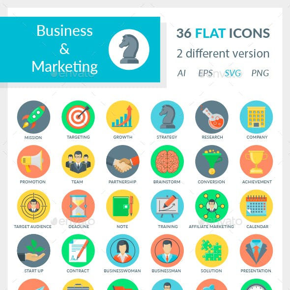 Business and Marketing Icons