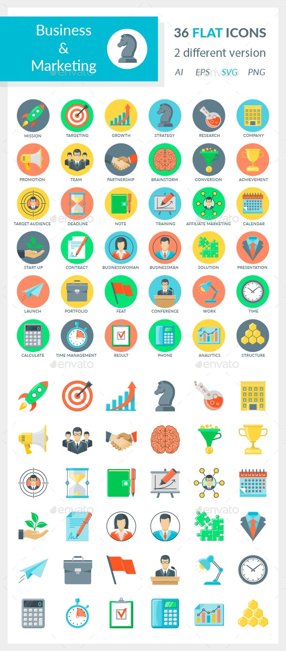 Business and Marketing Icons - Business Icons