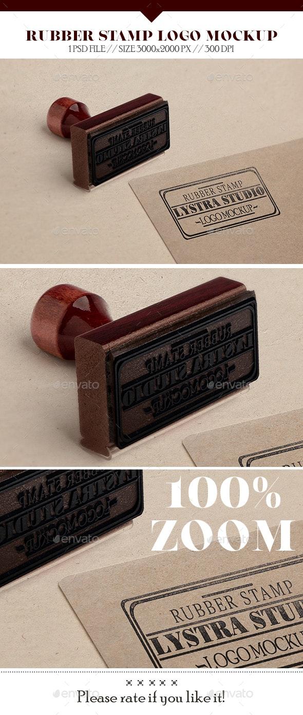 Rubber Stamp Logo Mockup - Logo Product Mock-Ups