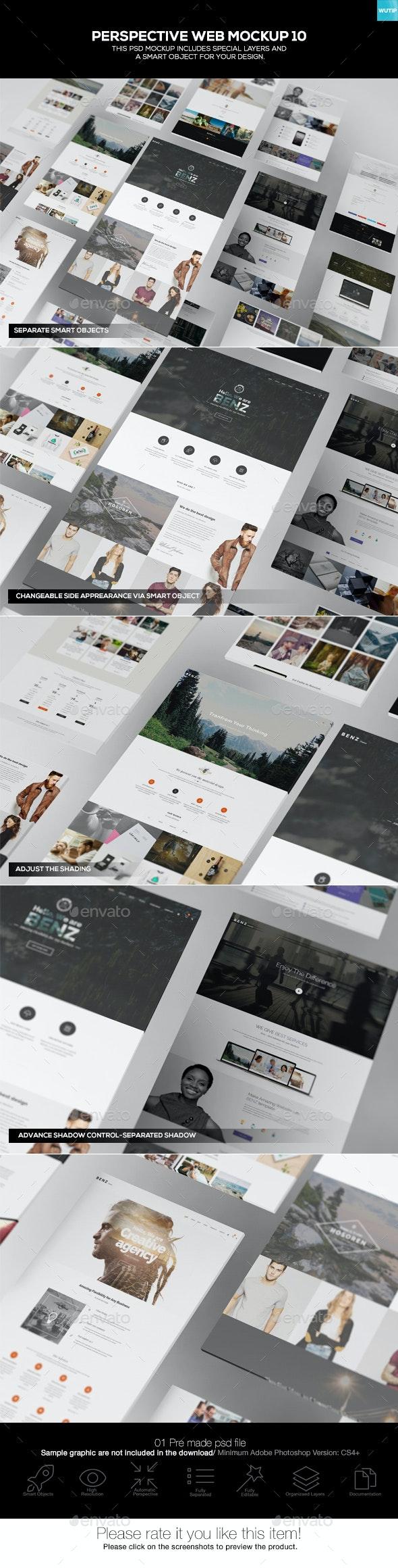 Perspective Web Mockup 10 - Website Displays