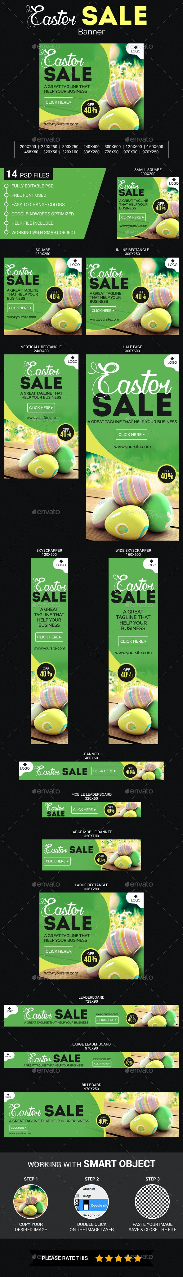 Easter Sale - Banners & Ads Web Elements