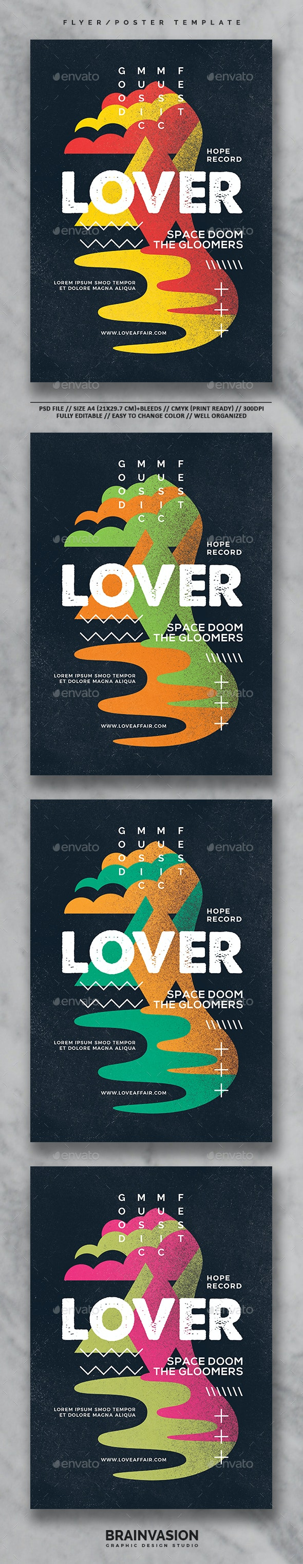 Hipster Flyer/Poster Template Vol.3 - Concerts Events