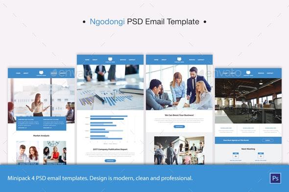 Ngodongi PSD Email Template - E-newsletters Web Elements