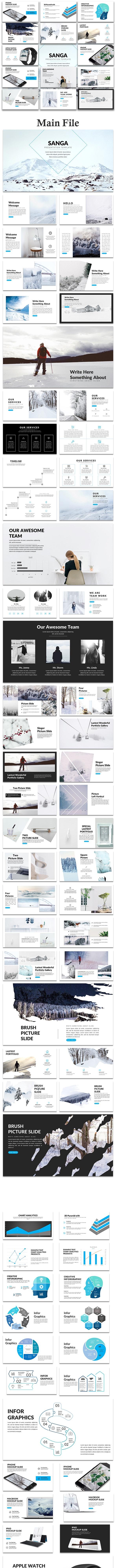 Sanga - Creative PowerPoin Template - Creative PowerPoint Templates