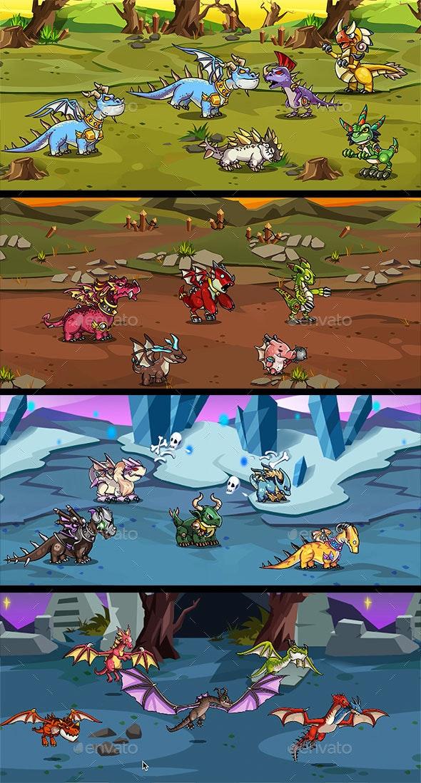 20 RPG Dragons Pack - Sprites Game Assets