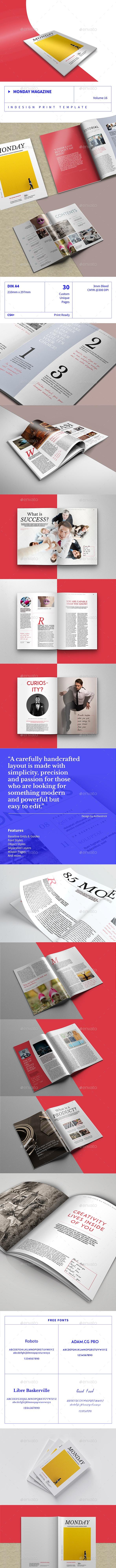 Monday Magazine - Volume 16 - Magazines Print Templates