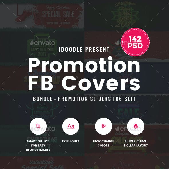 Bundle Facebook Timeline Covers - 142 PSD [06 Sets]