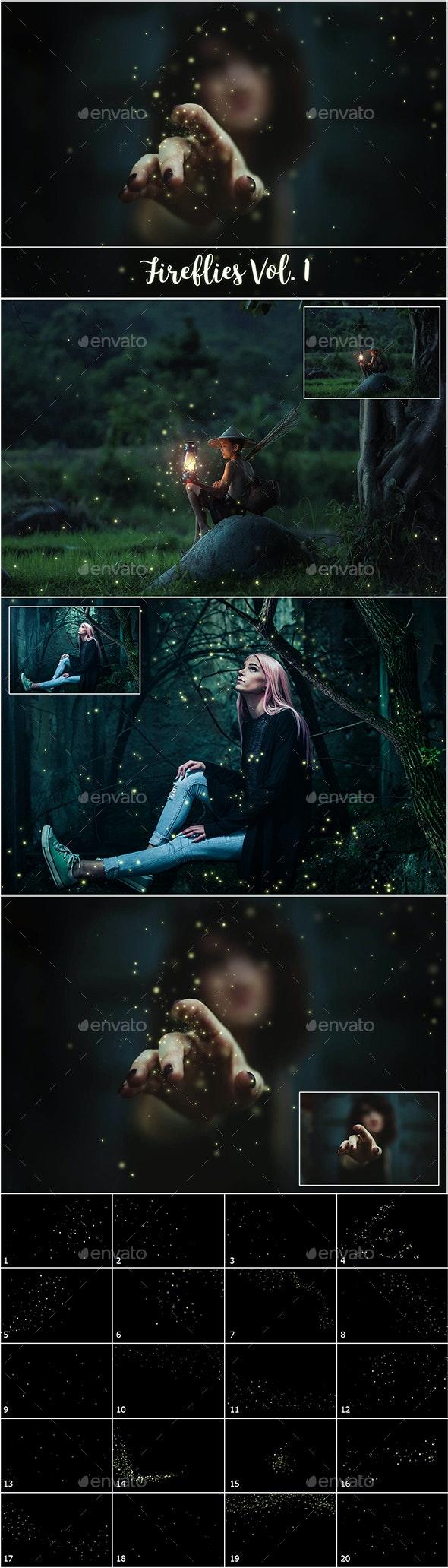 Fireflies Overlays - Abstract Backgrounds