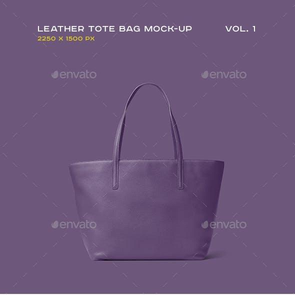 Leather Tote Bag Mock-up vol.1