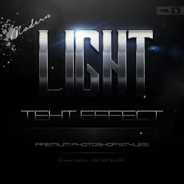 10 Modern Light Text Effects Vol.1