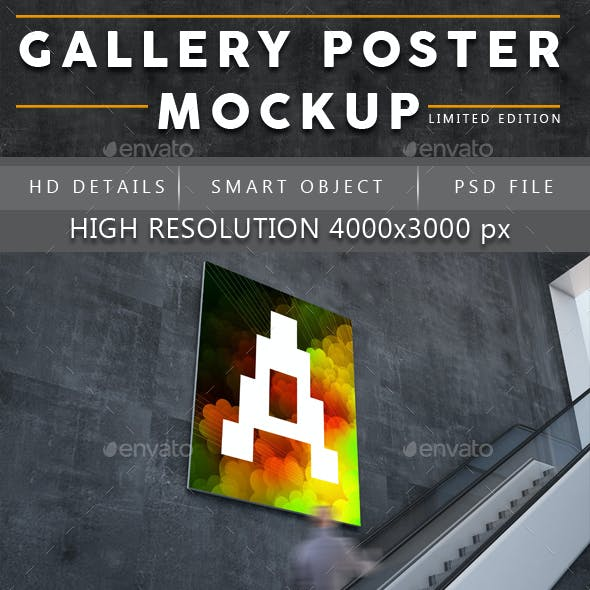 Gallery Poster Mockup (Limited Edition)
