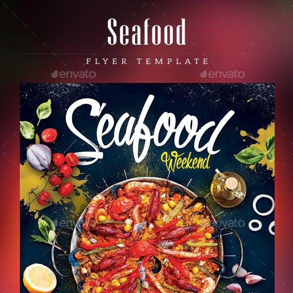 Seafood Weekend Flyer