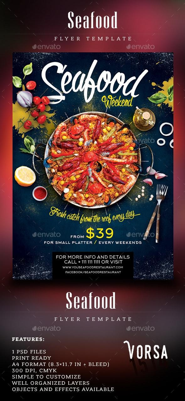 Seafood Weekend Flyer - Restaurant Flyers